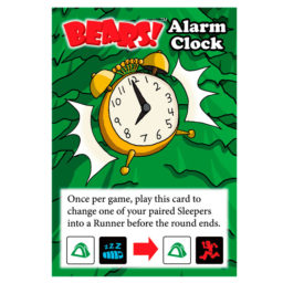 alarm clock promo card for bears dice game