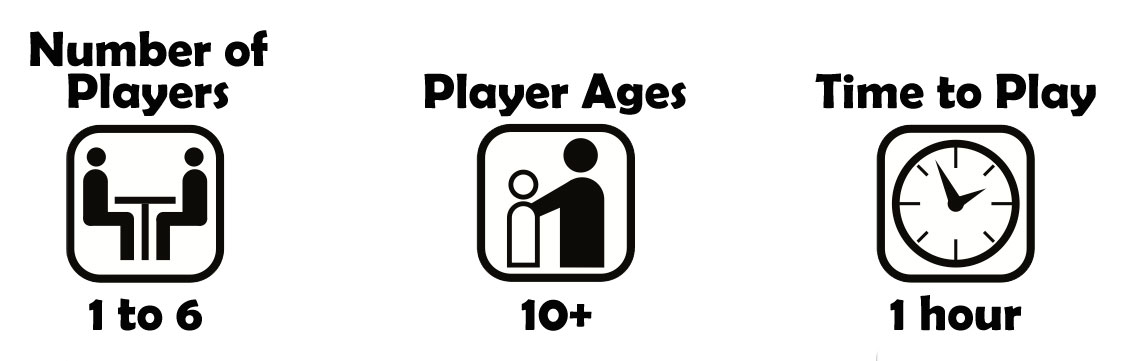 castle panic number of players 1 to 6, player ages 10 and up, time to play 1 hour
