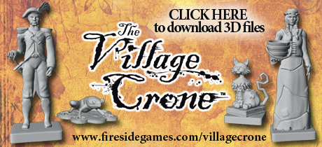 Download the 3D Printer files for The Village Crone components