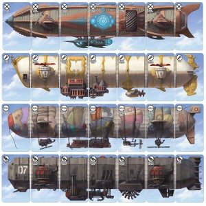 Dastardly Dirigibles steampunk airship card game airships