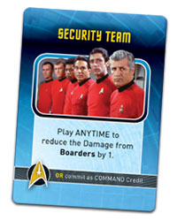 Star Trek Panic Security Team card TM & © 2016 CBS. ARR.