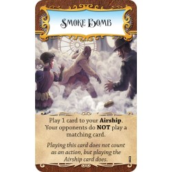 Dastardly Dirigibles Steampunk Airship Card Game Smoke Bomb Promo Card