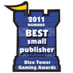2011 Dice Tower Best Small Publisher Award