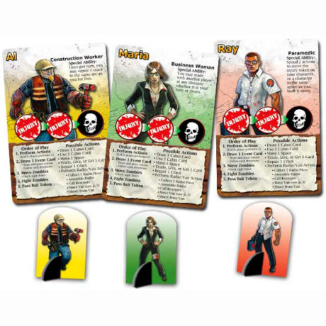 Character cards in Dead Panic