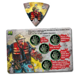 Character zombie token and card in Dead Panic