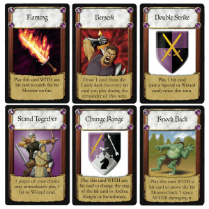 New Castle cards in The Wizard's Tower