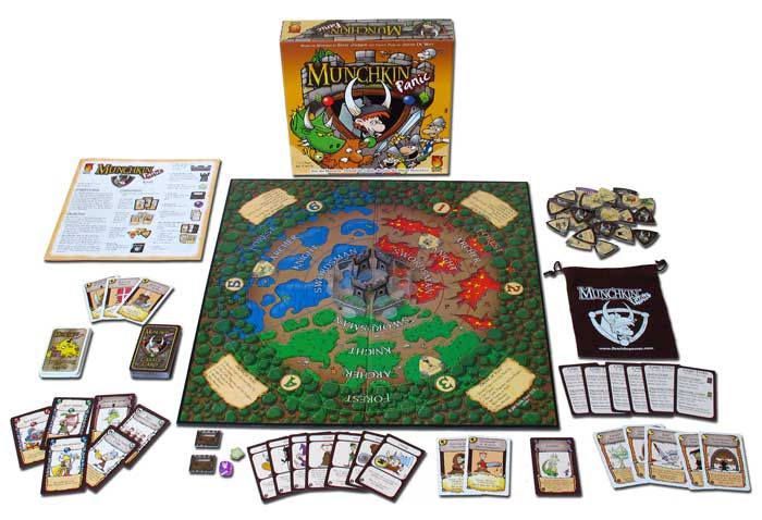 Munchkin Panic open game with components