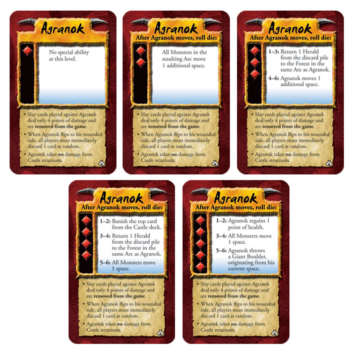 Agranok difficulty level cards