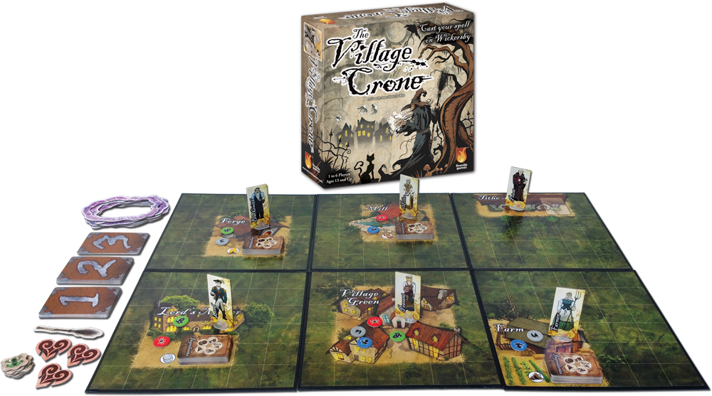 The Village Crone open game with pieces