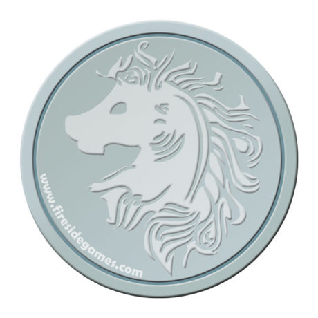 silver coin coaster for the village crone