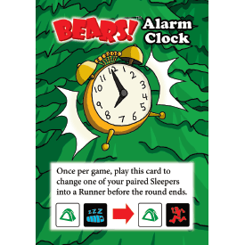 Alarm Clock promo card for Bears!