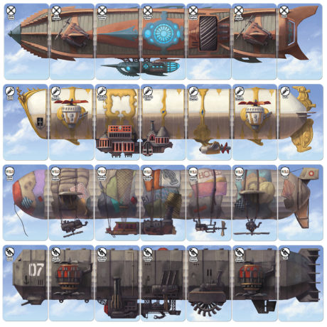 Dastardly Dirigibles steampunk airship card game airships