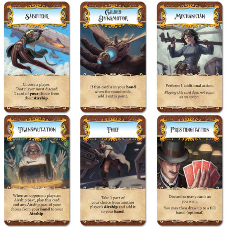 Dastardly Dirigibles steampunk airship card game cards