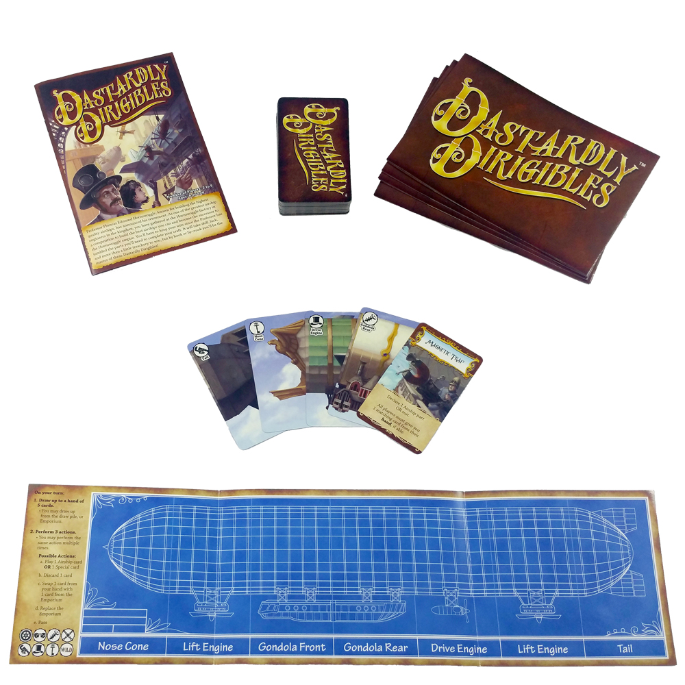 Dastardly Dirigibles steampunk airship card game full game