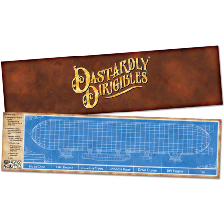 Dastardly Dirigibles steampunk airship card game Guide Sheet