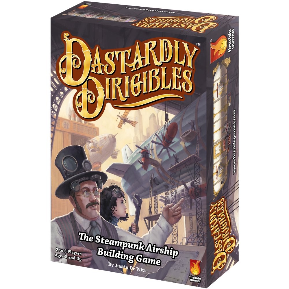 Dastardly Dirigibles steampunk airship card game