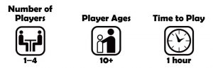 1-4 players, Ages 10+ Game time 1 hour