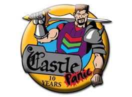 Castle Panic 10 Year pin