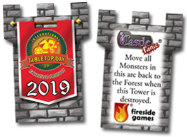 2019 International Table Top Day Tower front and back