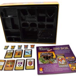 Big Box organizer, rulebook, promo towers and promo cards