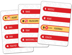 Stringamajig cards showing Challenge words