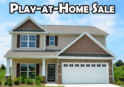House with Play-at-Home sale text