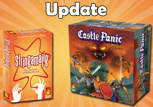 Stringamajig and Castle Panic Deluxe box with Update text
