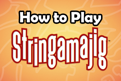 How to Play Stringamajig text over bright background