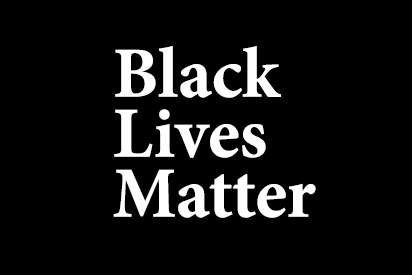 Black Lives Matter in white text over a solid black background