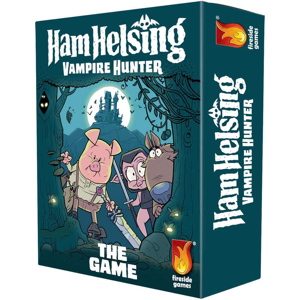 Game box showing Ham Helsing and friends exploring a spooky forest